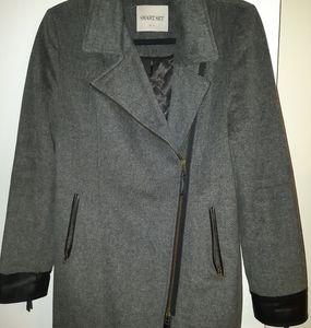 SMART SET soft wool 3/4 length coat